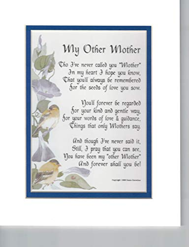 My Other Mother, Someone Like a Mother To Me - Mother in law Poem - Mother in law Gift - Mother in law Present - Mother in law Birthday