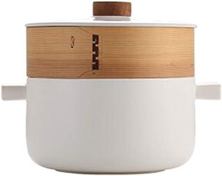 LJBH Soup Pot, Health Soup Pot, Stew Pot, Maifan Stone Steamed Soup Pot, 20cm high quality (Color : White, Size : 20cm)