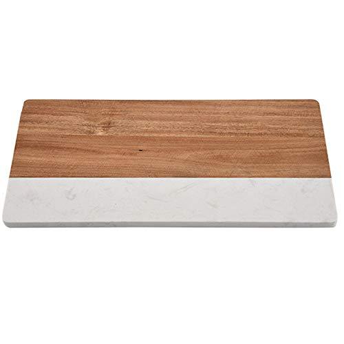 XMSIA Tabla de Cortar y Picar Tablero de mármol Multifuncional de mármol para el hogar Tabla de Cortar de Carne de Pan de Empalme para Carne, Verduras (Color : Multi-Colored, Size : 36X18X1.2CM)