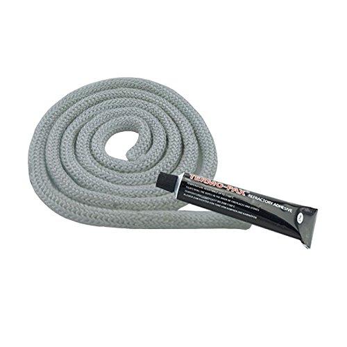 KS24dichtko rdel Blanco para estufas, 6mm 2,0 Meter + 1x Kleber weiss