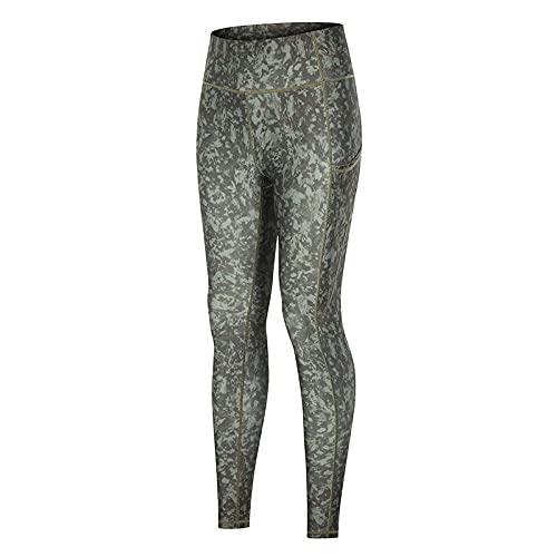 ArcherWlh Yoga Pantalones,Nuevos Pantalones de Yoga Europa y los Estados Unidos Hip Hip Bolsillo Deportivo Pantalones de Fitness, Pantalones de Yoga de impresión de Camuflaje verde-Up030_XXL