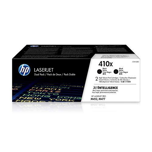 HP 410X (CF410XD) Multipack Original Toner (2x Schwarz) mit hoher Reichweite für HP Color Laserjet Pro M452, HP Color Laserjet Pro M477