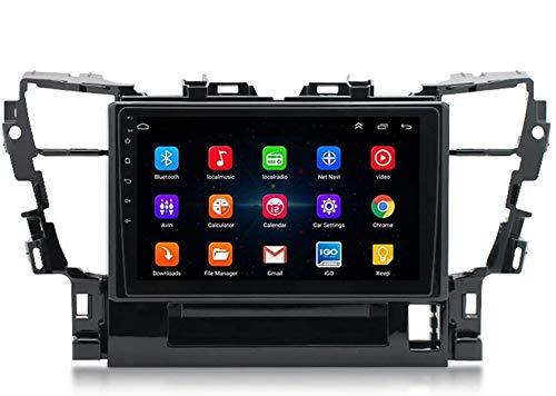 LYHY Compatible con Toyota Alphard 2015+ Android 9.0 Car Stereo Radio Double DIN Sat Nav Navegación GPS Reproductor Multimedia con Pantalla táctil de 9 Pulgadas Receptor de Video con 4G DSP Carplay