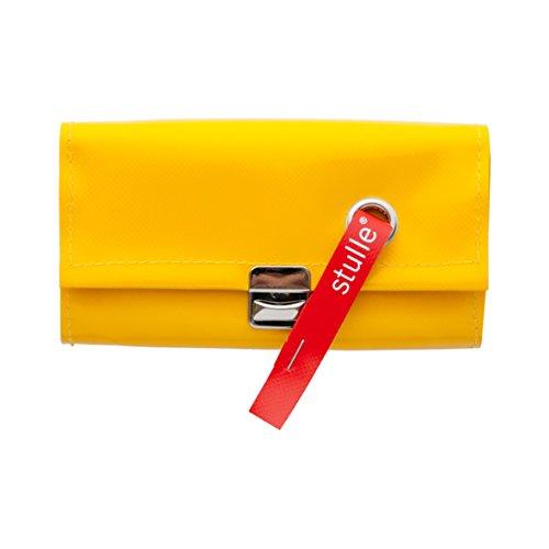 Geldbörse | kleine Kellnerbörse | Kellnergeldbeutel | Portemonnaie | 100% Handarbeit aus LKW-Plane | nachhaltig und vegan (gelb)