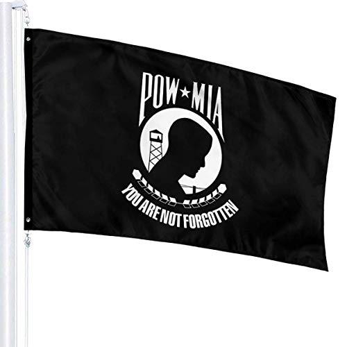 Lsjuee Pow Mia Flag 3' X 5' Ft Outdoor/Indoor Flags Garden Flag Home Flag Single Layer Translucent