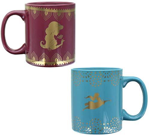 Disney Aladdin Princess Jasmine 11oz Ceramic Mug Set   2 Pack