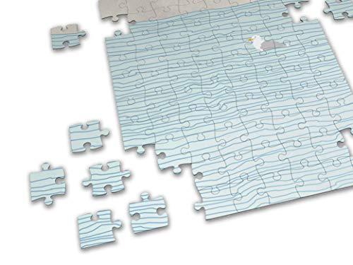 banum Puzzle Möwe — Puzzle 500 Stück, Kunst Puzzle, Puzzle Poster, Puzzle Bild, Kunstdruck Puzzle, skandinavische Kunst Puzzle, Geschenk Spiele