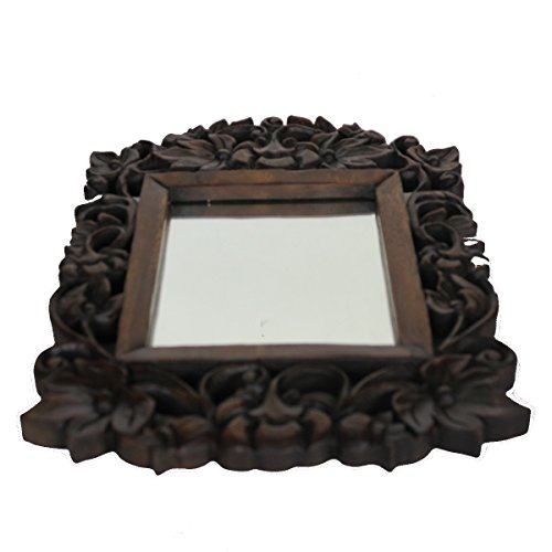 Discount Etnico Specchio Rustico Quadrato INTARSI Fiori 45X30
