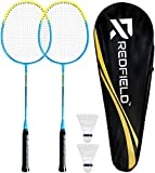 Redfield™ - Juego de bádminton - 2 raquetas de bádminton - 2 pelotas de...