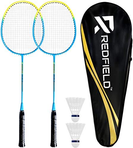 Redfield™ - Juego de bádminton - 2 raquetas de bádminton - 2 pelotas de bádminton - Bolsa de transporte - Set de bádminton para 2 jugadores - Juego de actividades al aire libre / interior
