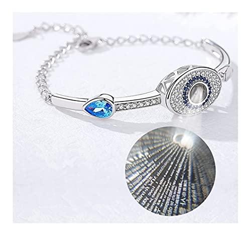 Pulsera para mujeres - Pulsera de protección contra el mal de ojo para mujeres hombres niñas acero inoxidable hecho a mano amuleto ajustable joyería de mal de ojo para familia mejores amigos regalos