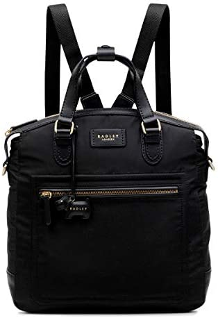 Radley London Womens Spring Park Convertible Nylon Backpack Medium Black product image