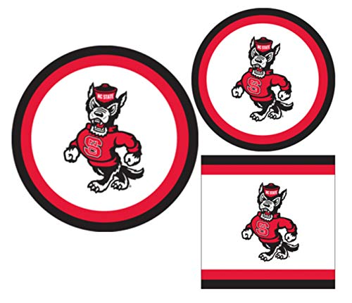 NC State Wolfpack Party Supplies - Bundle Includes Paper Plates and...
