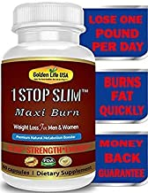 1 Stop Slim Maxi Burn Thermogenic Weight Loss Supplement Energy Pills for Women & Men, Burn and Breakdown Fat Cells Extremely Quick! Fast Boost Metabolism, Best Fat Burner Product!