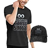 sunminey Homme T- T-Shirt Polos et Chemises Counter That S-h-i-t Washed Baseball-Cap...