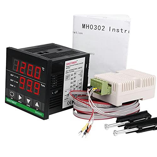 healthwen Controlador Inteligente de Temperatura y Humedad con Pantalla Digital de Alta precisión 85-265 V Utilizado en incubadora de cría de Invernadero