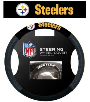 Fremont Die Pittsburgh Steelers Mesh Steering Wheel Cover