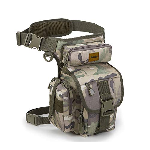 Jueachy Drop Leg Bag for Men Metal Detecting Pouch Tactical Military Thigh Waist Pack