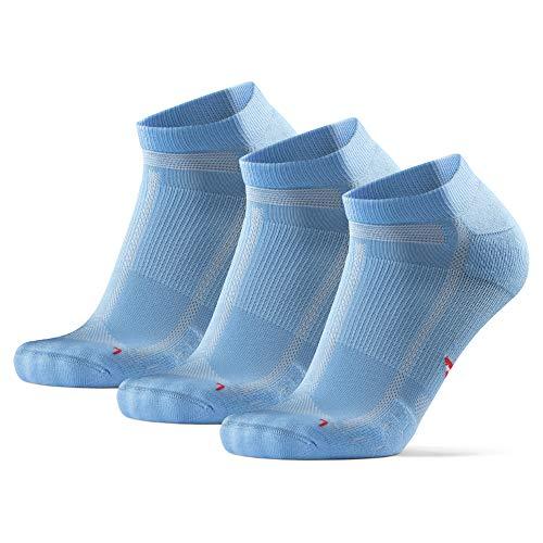 DANISH ENDURANCE Long Distance Low-Cut Running Socks for Men & Women (Hellblau, 43-47)