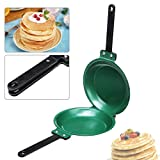 7.5 Inch Non stick Ceramic Pan SENREAL Double Side Pancake Maker Green...