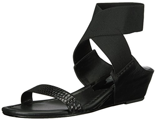 Donald J Pliner Women's Eeva Wedge Sandal, Black, 6 M US
