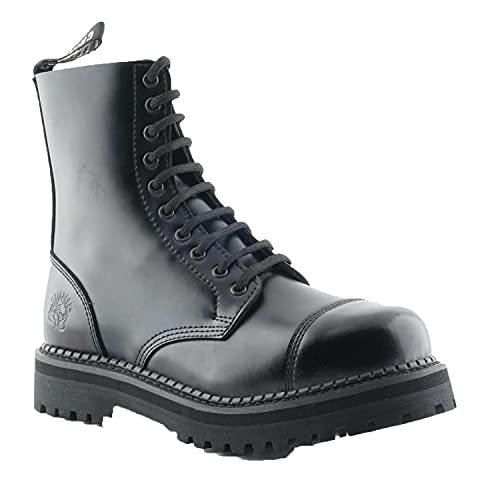 Grinders NEW-RENEGADE-LOW-BLK, Unisex Erwachsene Biker Boots , Schwarz - Schwarz - Größe: 45 EU