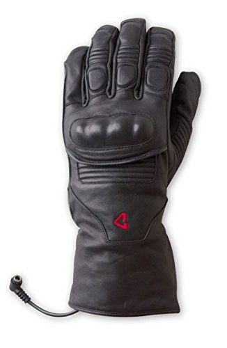 Gerbing 12V Vanguard Heated Motorcycle Gloves – Cowhide Leather Gloves with AQUATEX Membrane, Full-Length Gauntlet, Thinsulate Insulation