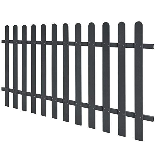 fzyhfa clôture de jardin en wPC 200 x 100 cm grise design simple et beau, robuste et résistant Clôture Jardin Filet pour clôture