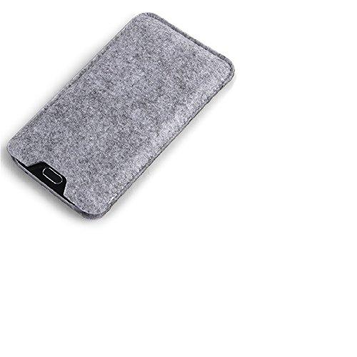 K-S-Trade Filz Schutz Hülle Kompatibel Mit ZTE Blade C341 Schutzhülle Filztasche Filz Tasche Hülle Sleeve Handyhülle Filzhülle Grau