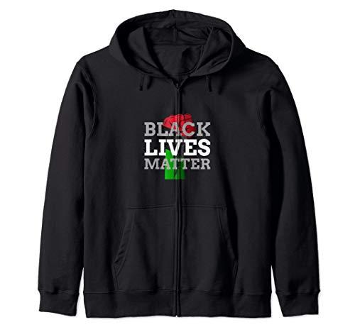 Black Lives Matter Juneteenth Afrikanische Flaggenfarben Kapuzenjacke