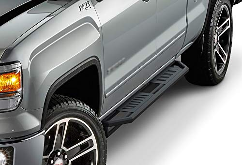 APS iArmor Aluminum Side Steps Armor Custom Fit 2007-2018 Chevy Silverado GMC Sierra Double Cab Extended Cab & 2019 2500 HD (Exclude 07 Classic)(Include 19 1500 LD) Nerf Bars Steps