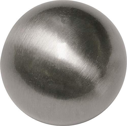 Gardinia Endknopf, Metall, Edelstahl-Optik, Ø 1.6, 2