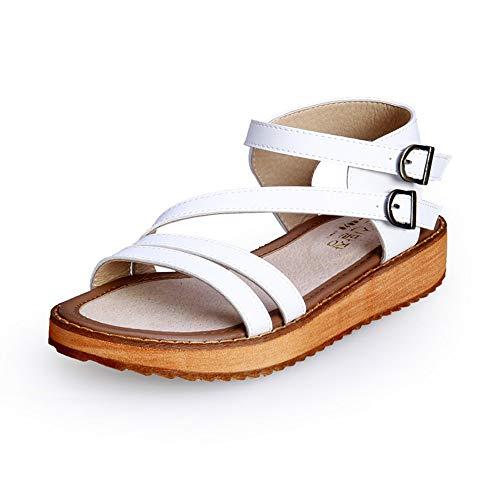 Dulce Verano Nuevas Sandalias De Moda Mujer Bizcocho De Fondo Grueso Romana De Gran Tamaño Zapatos De Tacón Grueso Zapatos De Mujer De Fondo Plano Damas Sandalias Británicas
