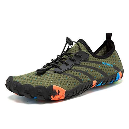 Hombre Mujer Zapatos De Agua Transpirable Malla PU Antideslizante Natación Buceo Deportes Acuáticos