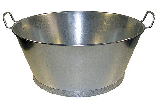WOLFPACK 5060009-Seau galvanisé de Bain 70 x 27 cm 62 litres