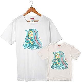 アマビエ 06 Tシャツ サイズはM、Lの2種類 レディースサイズ 妖怪 疫病退散 コロナウィルス対策 アマビエチャレンジ GSJT011 自粛 イラスト グッズ