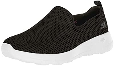 Skechers womens Go Joy Walking Shoe, Black/White, 7.5 US
