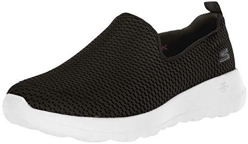 Skechers Go Walk Joy, Zapatillas sin Cordones Mujer, Negro (BKW Black Textile/Trim), 38 EU