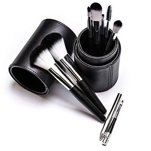 Outil De Beauté Peigne Ombre Maquillage Brosse Set Maquillage Noir Artiste Oeil Brosse À Lèvres Sourcils Pour Le Studio Usage Quotidien Avec Seau PU