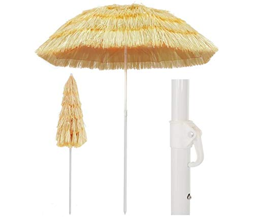 Ombrellone da Spiaggia in Stile Hawaiano 180 cm per Casa e Giardino Prato e Giardino Vita all'aperto Ombrelloni