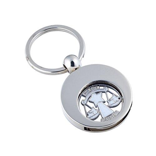 Jadani Hochwertiger Schlüsselanhänger mit EK-Chip Sternzeichen Waage