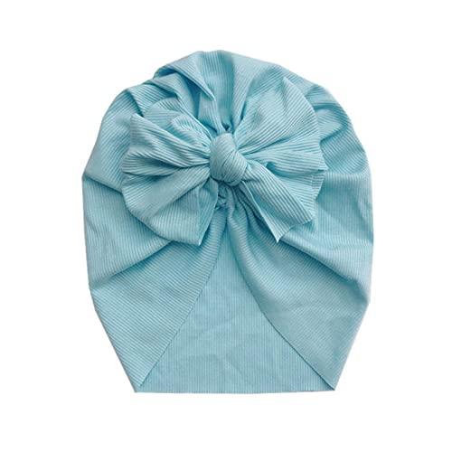 WXDC Precioso Gorro de Flor para bebé, Gorro de algodón Suave para niña, Gorro de bebé recién Nacido para niños pequeños, envolturas para la Cabeza de los niños