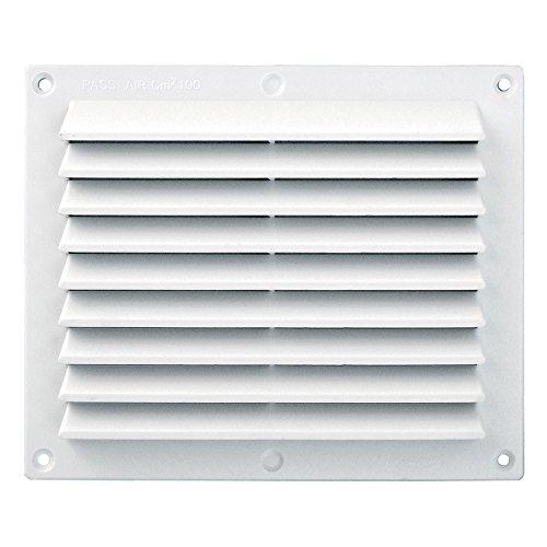 - Grille de ventilation PVC - Grille ventilation rectangulaire PVC anti-pluie 175x146mm - Sable - Moustiquaire