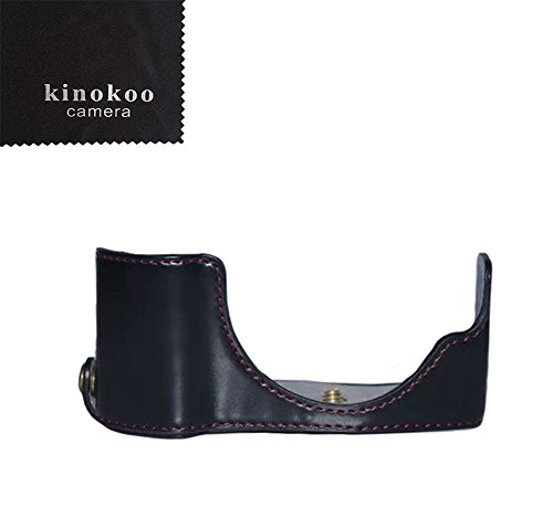 kinokoo Funda para cámara Olympus PEN E-PL9/E-PL8/E-PL7 Funda de piel sintética Olympus E-PL9 Case Camera Grip (negro)