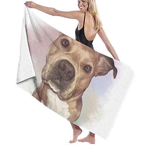 Toalla de baño de perro americano de acuarela, toallas de baño, súper absorbentes, toallas de baño para el gimnasio, playa, spa de natación