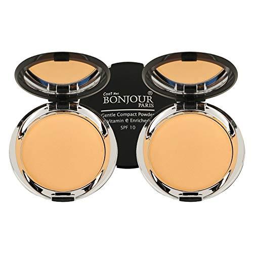 BONJOUR PARIS Photo Match Translucent Compact Face Powder and Highlighter,...