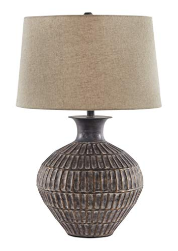 Signature Design by Ashley - Magan Metal Table Lamp - Distressed Metal - Antique Bronze Finish