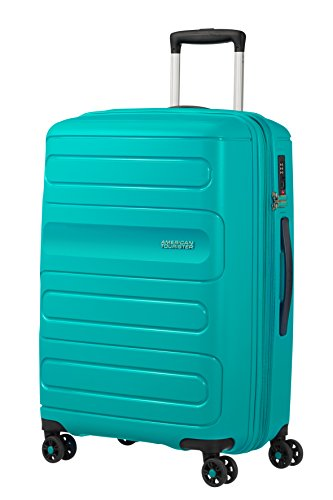 American Tourister Sunside Spinner 68 Expandible, 3.7 kg, 72.5/83.5 l, Turquesa (Aero Turquoise)