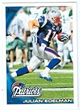 Julian Edelman football card (New England Patriots) 2010 Topps #325 Rookie Card