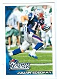 Julian Edelman football card (New England Patriots) 2010 Topps #325 Rookie Card. rookie card picture